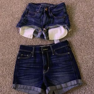2 PAIR OF JEANS SHORTS